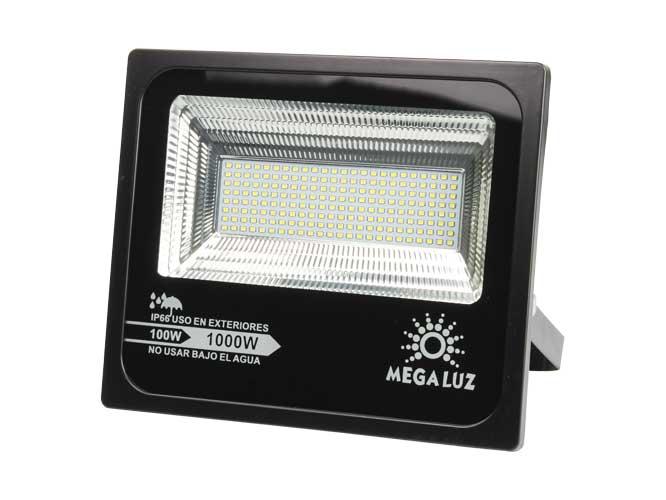 reflector megaluz llr-015 r100w005, 100w, equivale a 1000w, 8000lm, empotrable, apto para exteriores