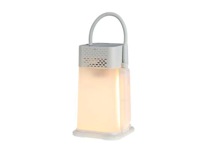 bocina portátil link bits bt05 mb-035tl, bluetooth, diseño con lampara y dispersor de luz perfecto para escritorio, auxiliar,