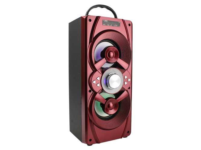 bocina link bits rfr013 ref. vb436tl, recargable, bluetooth, luces led, usb,tf, fm, aux, incluye control remoto, cable aux, cable v8.