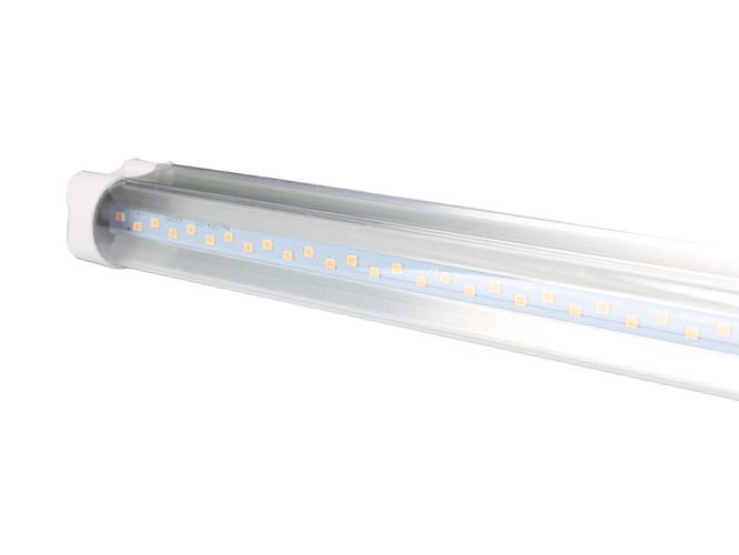 tubo led color morado megaluz llc003 t8x2c03m, 20w, 120mm, 1400 lumenes, 5000-6000k 110v 50/60hz