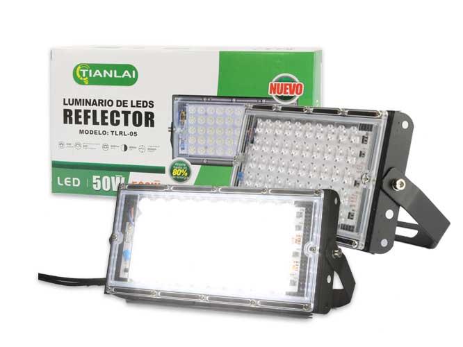 reflector megaluz llr-014 r10w50c8, 50w, equivale a 500w, 3600lm, dise�o rectangular