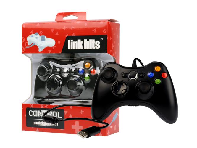 control gamepad link bits cx-001, diseño ergonómico tipo xbox 360, entrada usb, alambrico, puerto usb