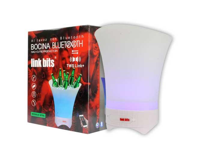 Bocina Portatil link bits Mb-036T, Hielera, USB, bluetooth, lector usb micro SD