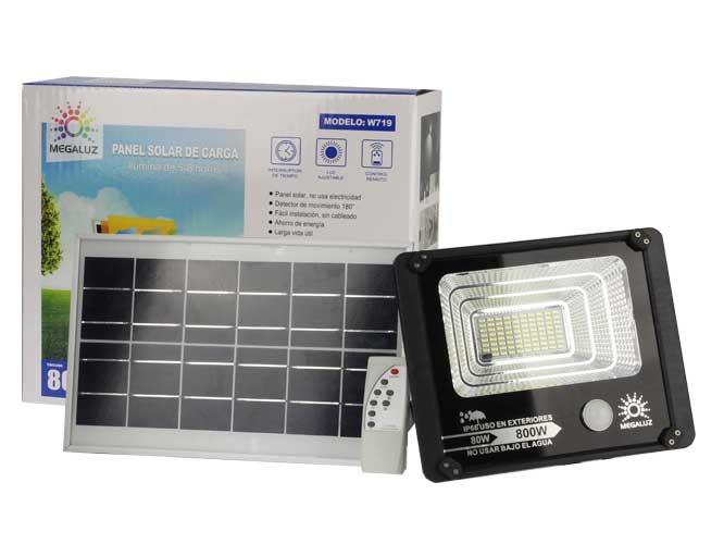 LAMPARA LED CON CELDA SOLAR W719