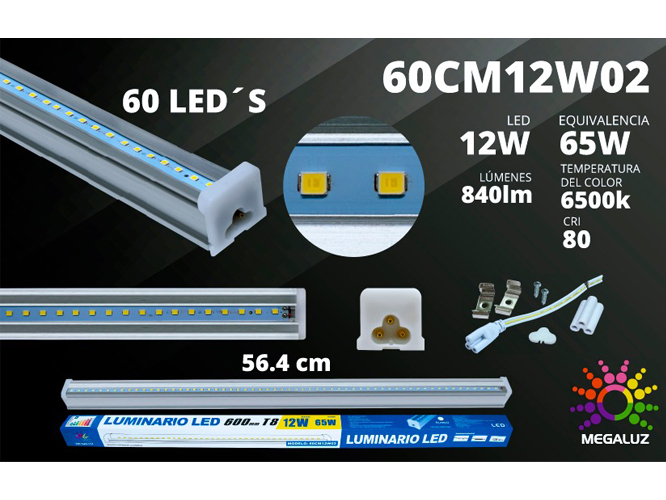 LUMINARIO LED 60CM12W02 (MRGL-02)