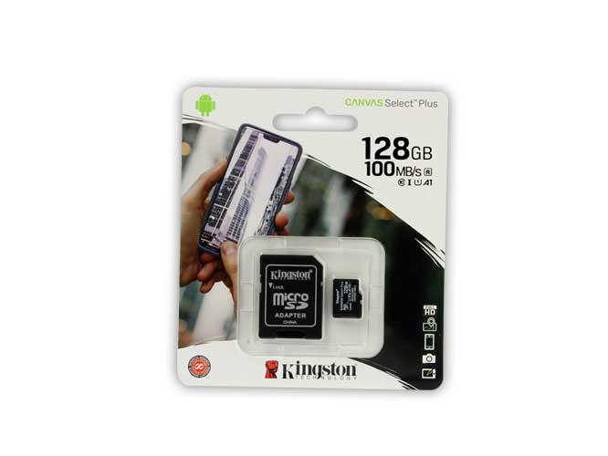 MICROSD KINGSTON 128GB CL10 A1