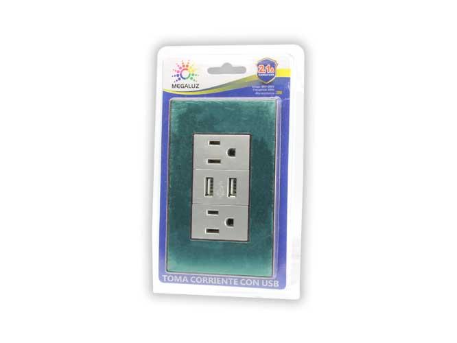 Toma corriente HY-JL310, con USB