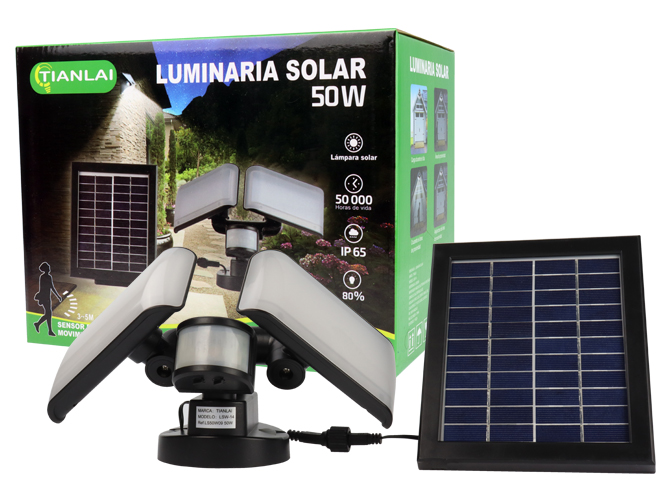 LUMINARIA SOLAR LS50W09