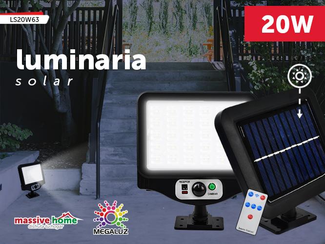 LUMINARIA SOLAR LS20W63