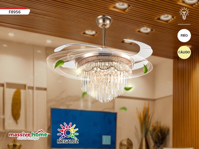VENTILADOR DE TECHO CON LÁMPARA LED F8956-42