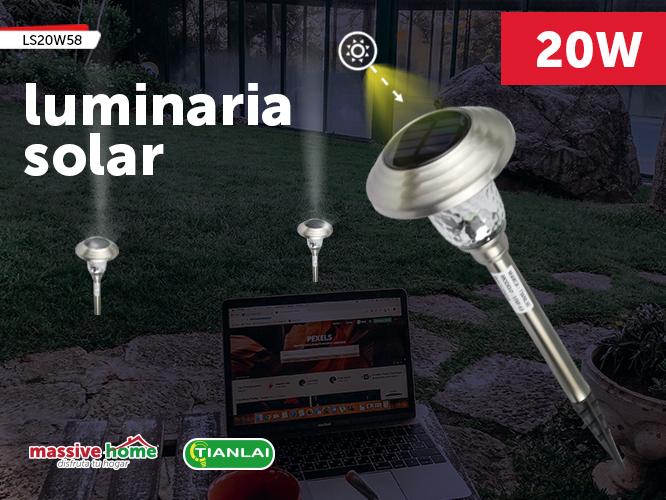 LUMINARIA SOLAR LS20W58 (Precio Pieza individual, paquete incluye 4 piezas)