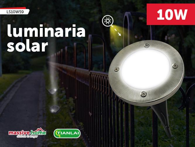 LUMINARIA SOLAR LS10W59 (Precio Pieza individual, paquete incluye 4 piezas)