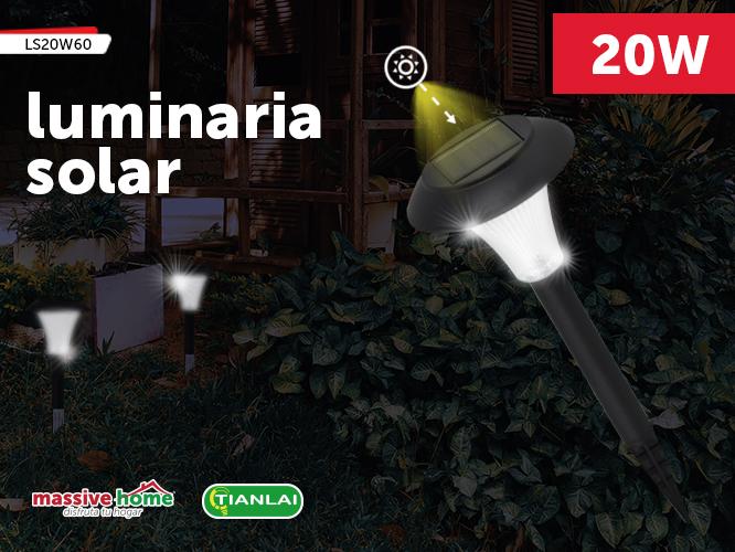 LUMINARIA SOLAR LS20W60 (Precio Pieza individual, paquete incluye 4 piezas)