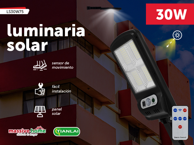 LUMINARIA SOLAR LS30W75