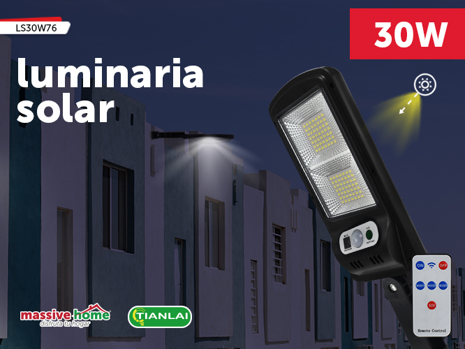 LUMINARIA SOLAR LS30W76