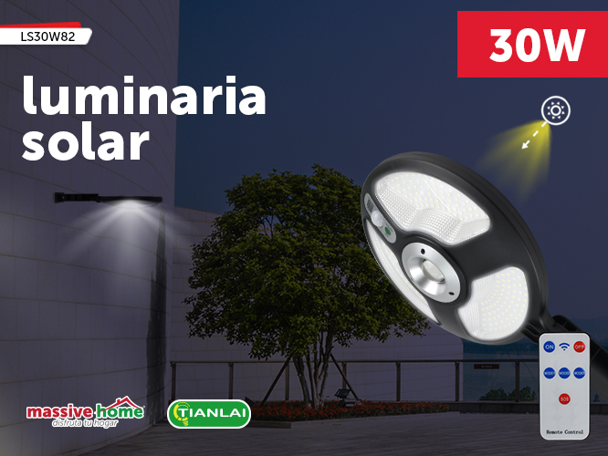 LUMINARIA SOLAR LS30W82