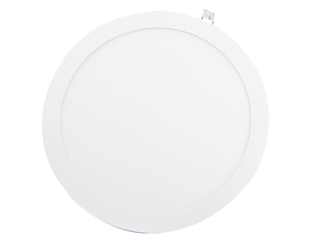 lampara led megaluz lls002r s04w24, 24w, 1680lm, forma circular, color blanco frio