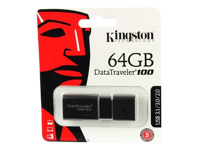 USB KINGSTON 64GB DT100 G3 BLACK