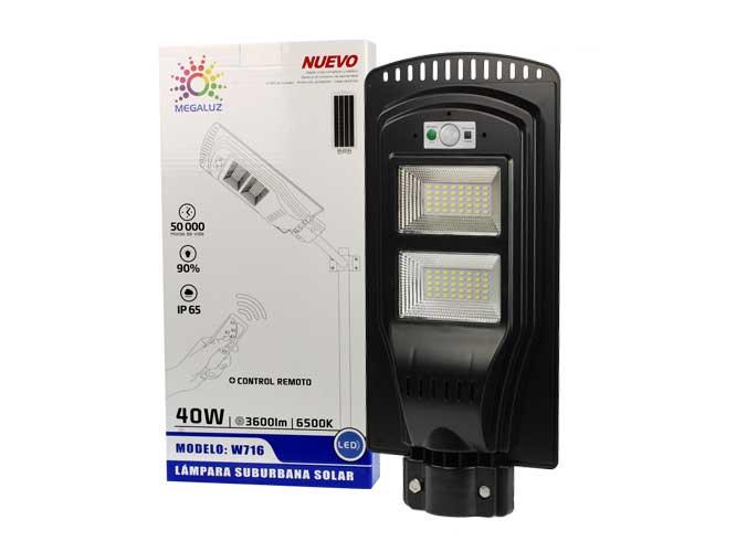 LAMPARA LED CON CELDA SOLAR W716