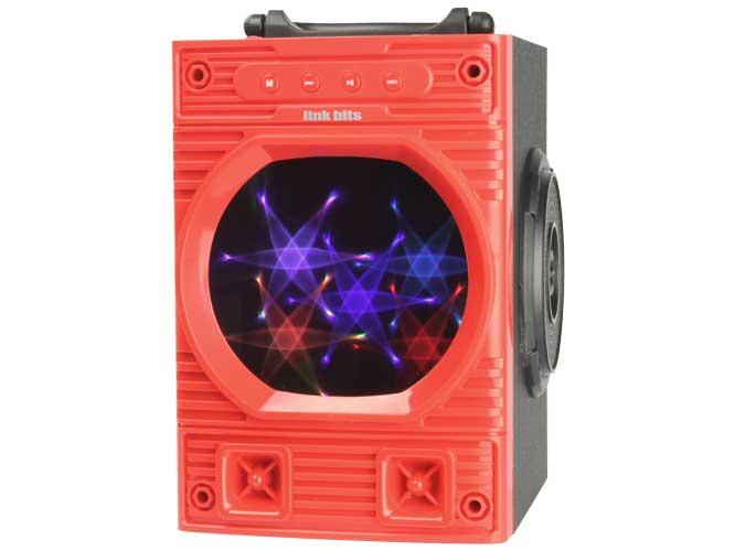 bocina link bits bt005 vb418bes, bluetooth, espejo, lector usb, tf, varios colores (vb418es)