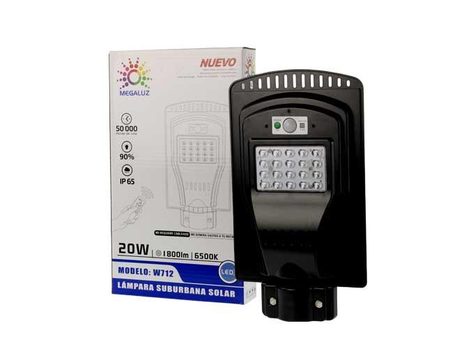 LAMPARA LED CON CELDA SOLAR W712
