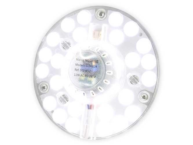luminaria led megaluz lls002r s05w12, 12w, equivale 65w, 1680lm, 12cm de diámetro, fácil instalación, alto brillo