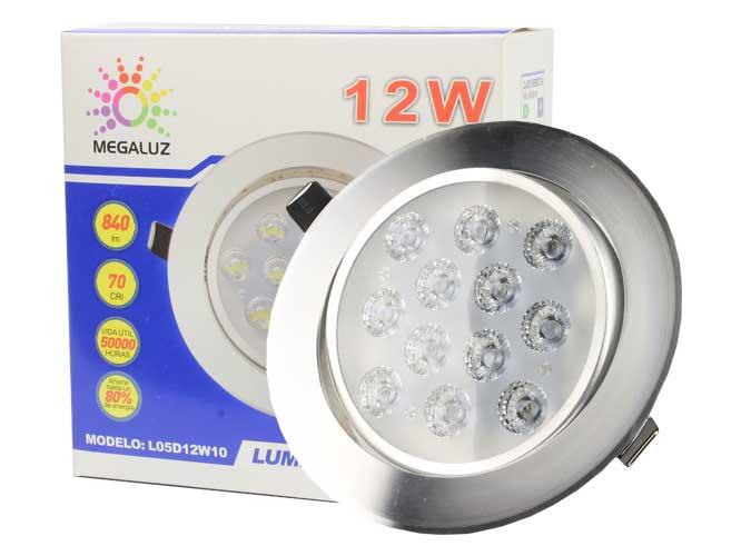 luminario led para empotrar megaluz, 12w l05d12w10