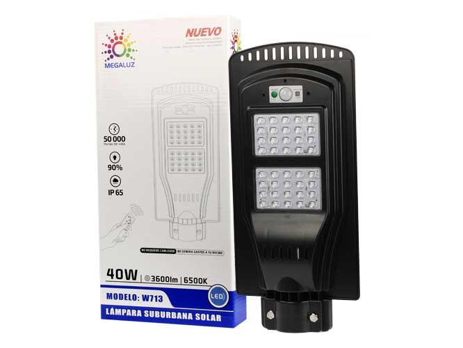 LAMPARA LED CON CELDA SOLAR W713
