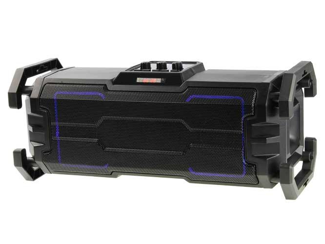 bocina link bits rfr025 hc401t2, bluetooth, diseño moderno cilindrico, 4 pulgadas, radio fm, lector usb, tf, auxiliar, gran calidad
