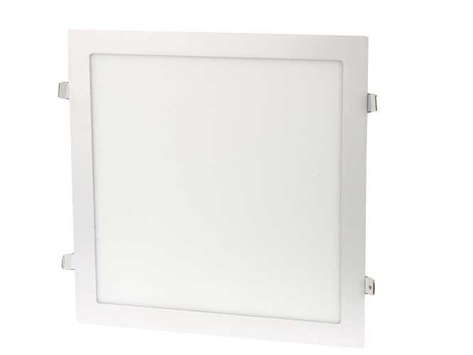 luminaria led megaluz lls003r s08w24, 24w, ilumina 120w, 1680lm, diseño cuadrado, para empotrar, fácil instalación, ahorro de energía