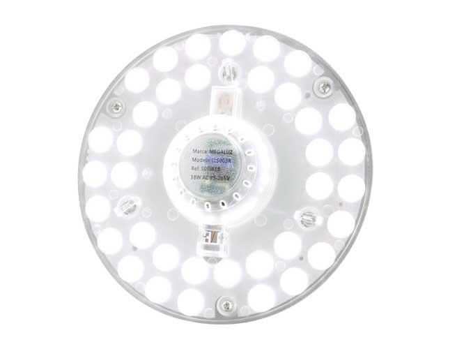 luminaria led megaluz lls003r s05w18, 18w, ilumina 90w, 16cm de diámetro, facil de instalar, alto brillo