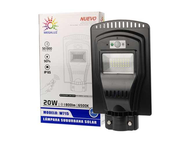 LAMPARA LED CON CELDA SOLAR W715