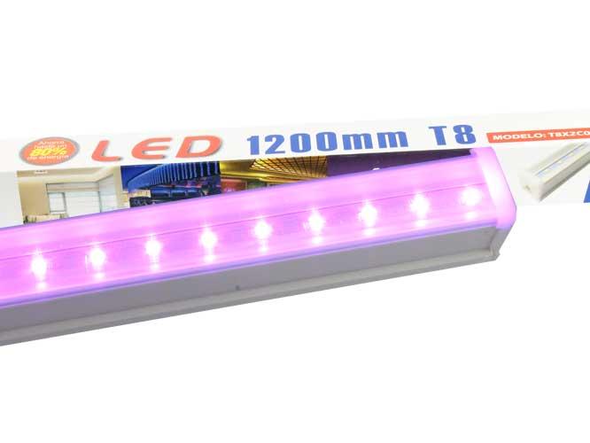 tubo led megaluz morado 14w, 1200mm,  t8x2c08m