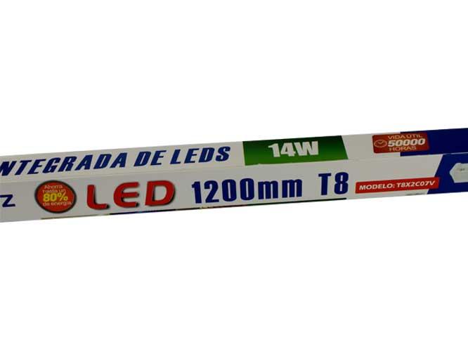 tubo led megaluz verde, 14w 1200mm, t8  facil de instalar, t8x2c07v