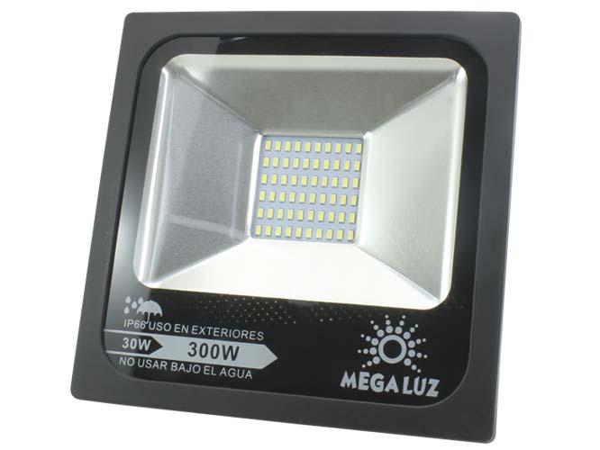reflector led mega luz llr-006 r30w002, 30w, angulo radiante 120 grados, 3000 lumens, hasta 15000 horas de vida