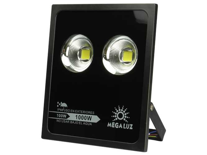 reflector megaluz llr-009 r100w02, 100w, equivale a 1000w, certificado ip66, apto para uso en exteriores